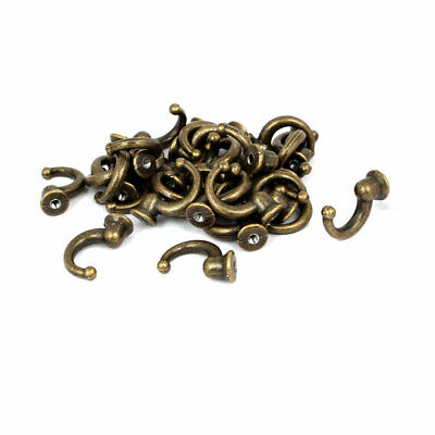 Robe Hat Coat Vintage Style Wall Mounted Metal Single Hanger Hooks 30PCS