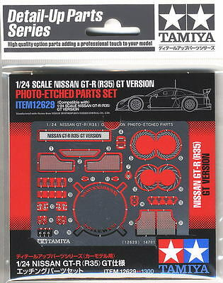 Tamiya 12629 1/24 Nissan GT-R R35 Super GT Photo Etched PE Parts For 24308/24312