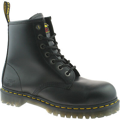 Mens Dr Martens Black Safety Work Steel Toe Cap Icon 7B10 Boots Size Uk 3 - 15
