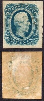 1863 CONFEDERATE STATES OF AMERICA 10 CENTS STAMP * Ref: 2 *