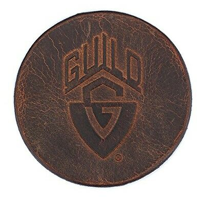 Guild Guitars Leather Drink Coaster - Brown