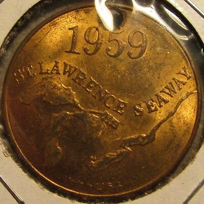 1959 St. Lawrence Seaway Seagrams 7 Canadian Whiskey Token - Canada