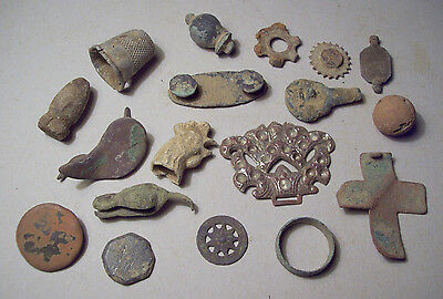 Dug Nice Lot Metal Detecting Finds 1600's-1800's Unresearched as found.