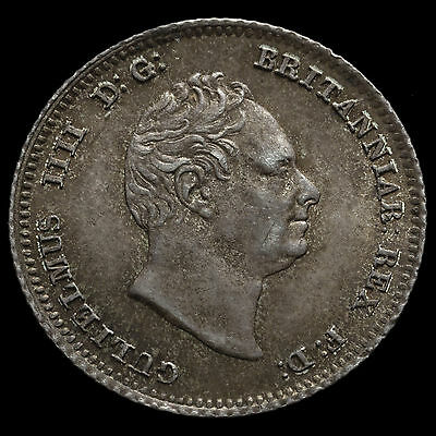 1836 William IV Milled Silver Fourpence / Groat – G/EF