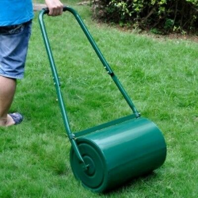 Heavy Duty Metal 30L Water/Sand Filled Garage Perfect Grass/Lawn Roller