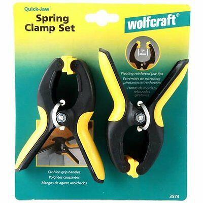 "NEW! WOLFCRAFT Spring Clamp 2"" 3572 2-Pack!"