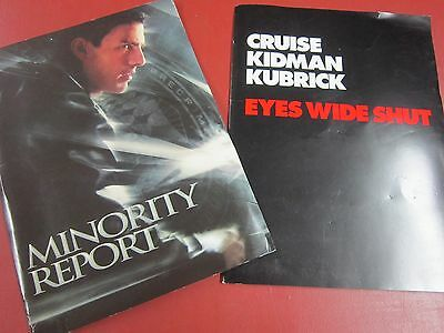 Tom Cruise movie press kits from Minority Report and Eyes Wide Shut