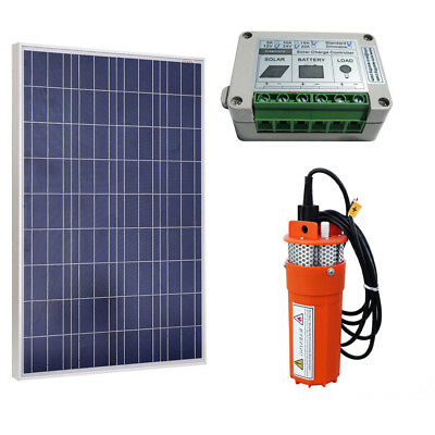 Solar Power 100W 12V Solar Panel with DC Deep Well Solar Water Pump for Yard