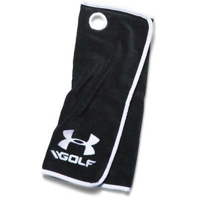 Under Armour Golf Tri Fold Towel (Black/White)