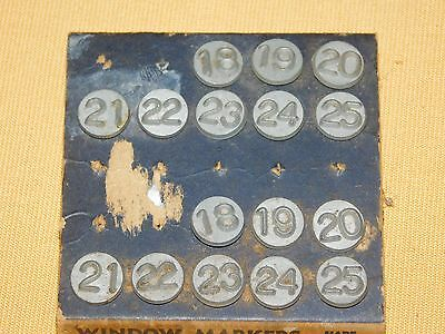 "Vintage Acro Rustproof ""white Brass"" Numbering Tacks  (16)"