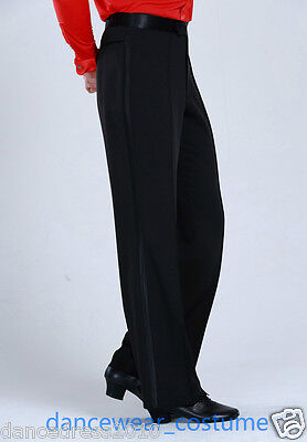 Men's Boys Smooth Ballroom Latin Salsa Dance Pants Competition Practise Trousers