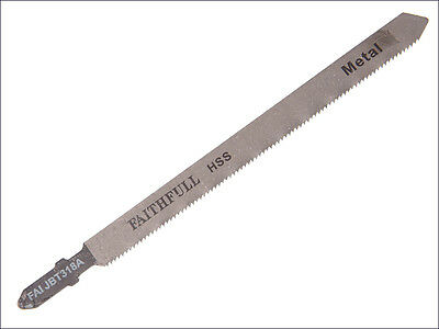 FAITHFULL BOSCH T FIT T318A  LONG JIGSAW BLADE FOR METALS - Pack of 5 Blades