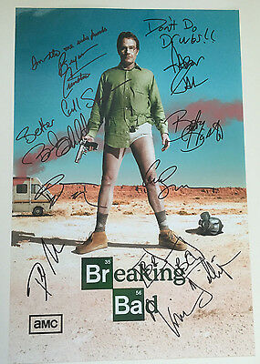 BREAKING BAD signed Bryan Cranston photo poster autographed UACC RD