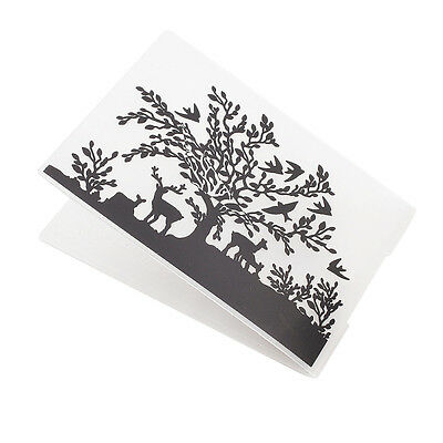 Tree Deer Elk Plastic Embossing Folders DIY Scrapbooking Paper Craft Making Tool