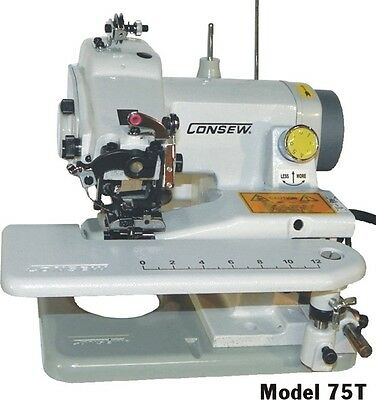 Consew Portable 75T~ ALL PURPOSE, SINGLE THREAD, CHAINSTITCH, BLINDSTITCH