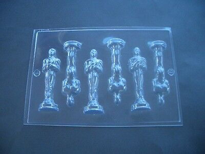 6 on 1 AWARD TROPHY STATUE CHOCOLATE MOULD/MOLDS/10.5CM HIGH/MAKE 3 X 3D FIGURES
