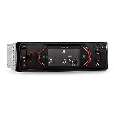 Auna Bluetooth Autoradio Ukw Rds Tuner Aux-In Mp3 Din Iso Usb 7 Farbmodi