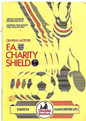 1985 Charity Shield Everton v Manchester United  POST FREE