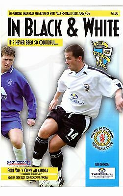 2003 Friendly - Port Vale v Crewe  POST FREE