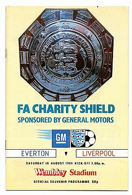 1984 Charity Shield Everton v Liverpool  POST FREE