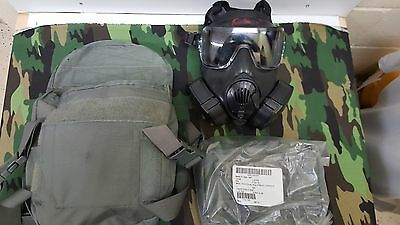 AVON M50 FM50 Gas Mask Current Black Large with m61 Canisters