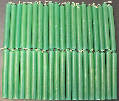 """40 Mini 4"""" Chime Spell Candles: Forest Green (Wicca, Altar, Ritual, Dark Green)"""