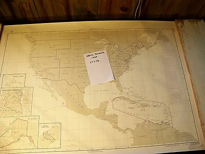 Naval Districts U.s.navy Hydrograhic Office 1957 Alaska To Panama Canal 34X48