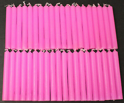 "40 Mini 4"" Chime Spell Candles: Pink (Wicca, Altar, Ritual) 2 x 20"