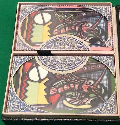 Twin Pack TAX WRAPPED c1950 * PICASSO - Still Life With Lobster * PLAYING CARDS