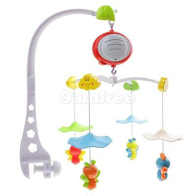 Baby Infant KIds Nursery Cot Pram Crib Bed Bell Musical Rotatable Adjustable
