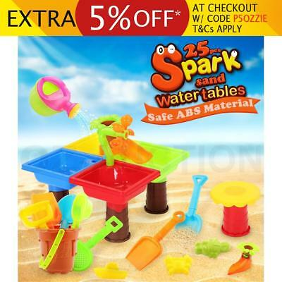 Kids Water Sand Children's Activity Play Beach Toys Table Sandpit Toy Set 25Pcs