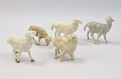 Vintage Lot of 5 Nativity Sheep Made in Italy