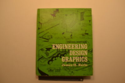 #JB37 Vintage ENGINEERING DESIGN GRAPHICS Book by James H. Earle Third Edition