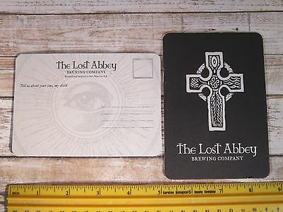 Beer Breweriana Postcard Coaster ~ The LOST ABBEY Brewing Co ~ San Marcos, CALIF