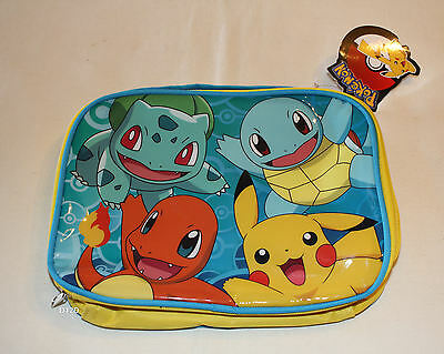 Pokemon Kanto Starter Kids Printed Insulated Lunch Box Cooler Bag New