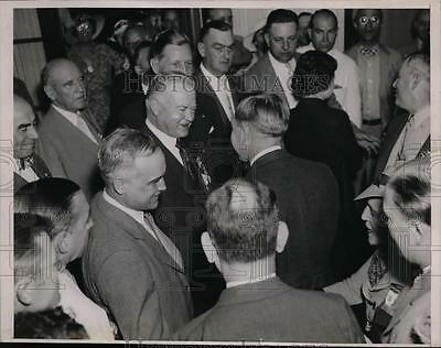 1937 Press Photo Ex President Herbert Hoover at Republican Convention
