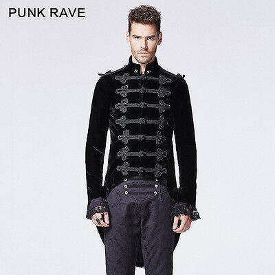 NY593 Punk Rave Visual Victoria Gothic Men's Coat with Swallow Tail