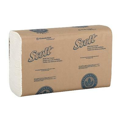 Kimberly-Clark KCC 01804 Scott M-Fold Towel 9.3X9.4 White 250 Count Case of 16