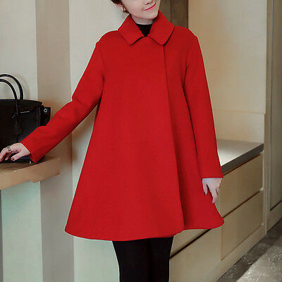 New Winter Maternity Coat Lapel Pregnant Woman Cloak Poncho Cape Red Outerwear