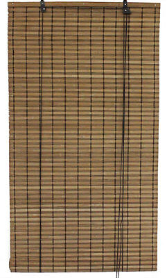 """5' x 6' 60"""" x 72"""" Brown Bamboo Slat Roll Up Blinds Window Shades Privacy Screen"""