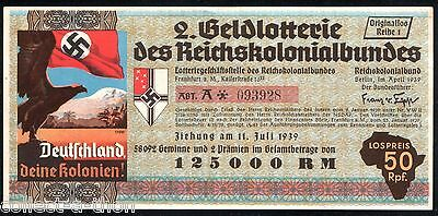 BOLDEST NAZI BILL WE'VE EVER SEEN! REPRINT of OUR OWN ORIGINAL PRO-COLONIAL NOTE
