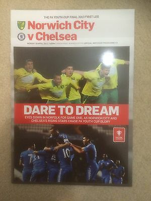 NORWICH CITY v CHELSEA FA YOUTH CUP FINAL FIRST LEG 2012-13