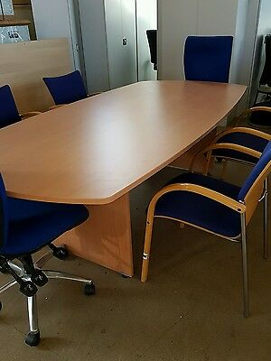 REDUCED Boardroom table and chairs
