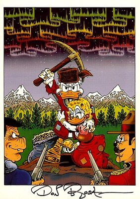 Don Rosa Dagobert Druck / Scrooge print SIGNIERT SIGNED by Don Rosa