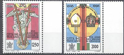 Vatican 1996 Religious Anniversaries Mnh Very Fine