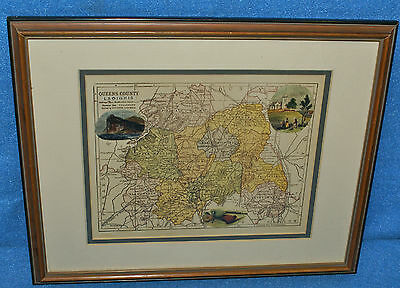 Old Framed Map of Queens County LAOIGHIS, Cullenagh, Ireland