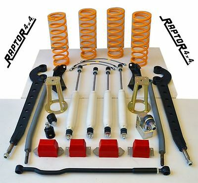 "Raptor 4x4 'Extreme' Suspension Lift Kit +4"" Land Rover Defender 90 Discovery 1"