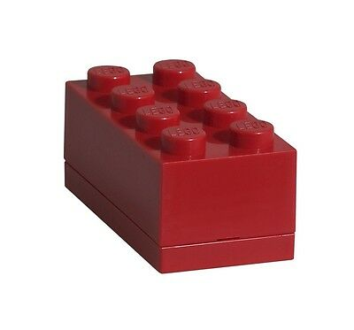 Lego Brick Mini Box 8 RED Snack Food Container Lunch Storage Plastic