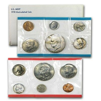 1978 United States Mint 12 Piece set Denver and Philadelphia -- Free Shipping *
