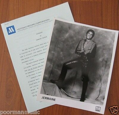 JERMAINE JACKSON Original Publicity PHOTO & PRESS RELEASE 1982 Motown
